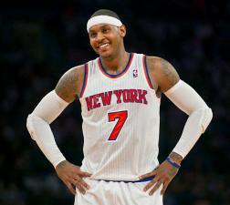Carmelo Anthony Frustrated